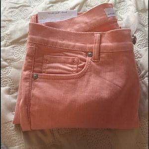 Loft Modern Skinny Crop in Orange Sorbet.  Petite.